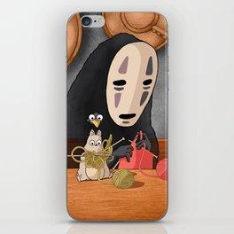 Spirited Away - Boh and No Face Knitting iPhone Skin