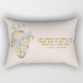 A Traveler's Heart + Quote Rectangular Pillow