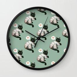 CAT LOVE Wall Clock