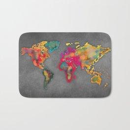 Map of the world 2027 Bath Mat