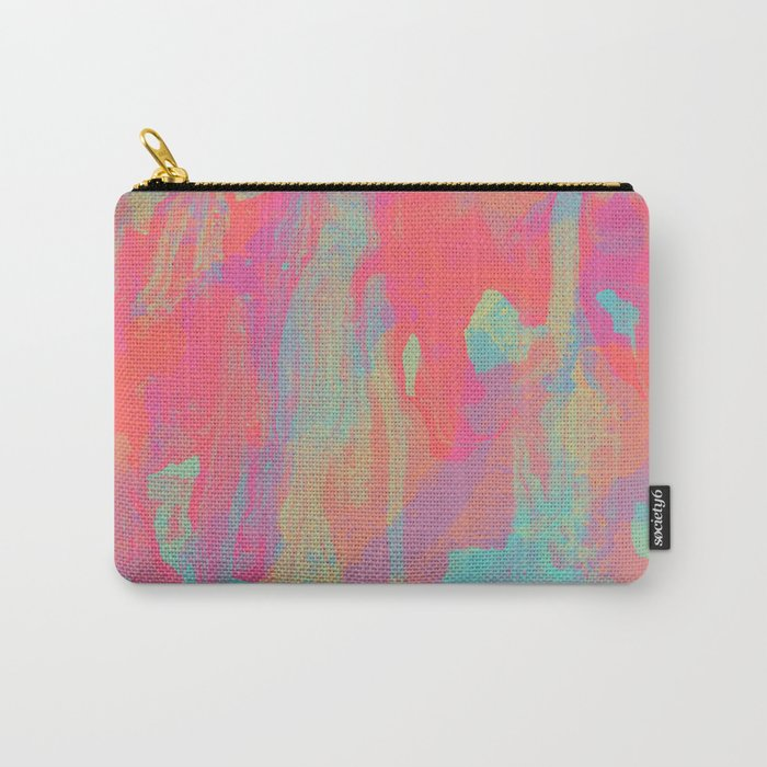 Neon Marble Carry-All Pouch