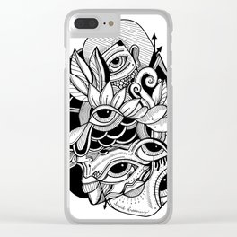 Lucid Dreaming Clear iPhone Case
