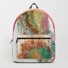 Heart Watercolor Art Backpack