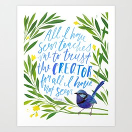 All I Have Seen - Ralph Waldo Emerson Quote Art Print