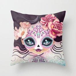 Camila Huesitos - Sugar Skull Throw Pillow