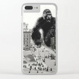 King Kong in Detroit 1907 Clear iPhone Case