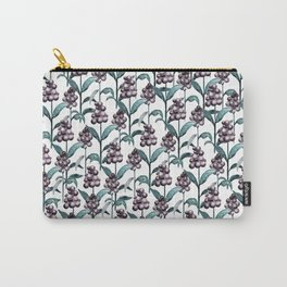 Watercolor Privet Fruit Berries Carry-All Pouch