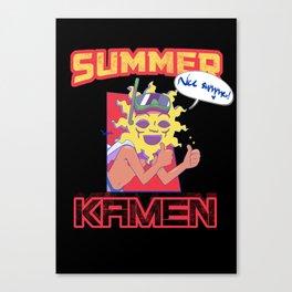 Summer Kamen black Canvas Print
