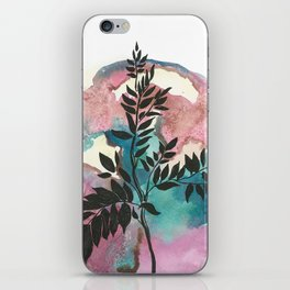Blue and Purple Botanical Watercolor #1 iPhone Skin