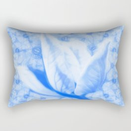 Abstract Bauhinia flower in blue Rectangular Pillow