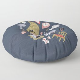 Alice in Wonderland Floor Pillow