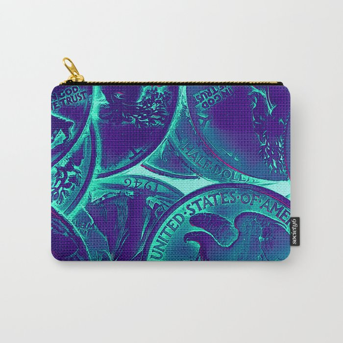 Vintage Coins Pop Art Carry-All Pouch
