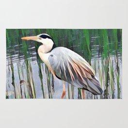 Heron in Watercolour Rug