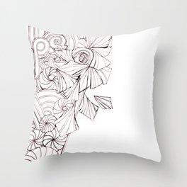 black and white 'Choas Throw Pillow