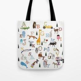 little nature alphabet Tote Bag