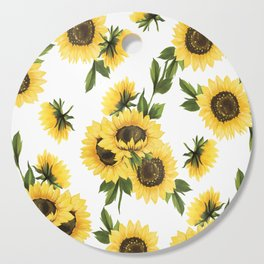 Lovely Sunflower Cutting Board