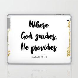 Isaiah 58:11 Christian Bible Verse Laptop & iPad Skin
