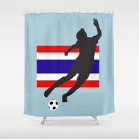 thailand Shower Curtains featuring Thailand - WWC by Alrkeaton