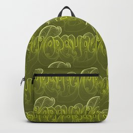 Torquay Typography - Lime Punch Backpack