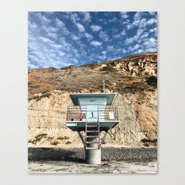 Beach Hut / Torrey Pines Canvas Print