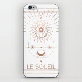 Le Soleil or The Sun Tarot White Edition iPhone Skin