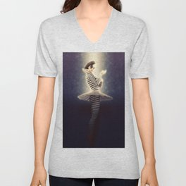 Precious Pierrette Illuminated Unisex V-Neck