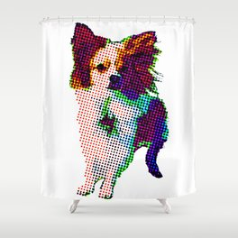 Apollo Dog Purple Shower Curtain