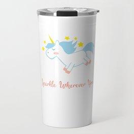 Sparkling Unicorn Travel Mug
