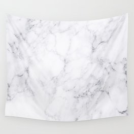 Luxury White Marble Wall Tapestry