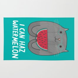I Can Haz Watermelon  Rug