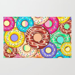 Donuts Punchy Pastel flavours Pattern Rug