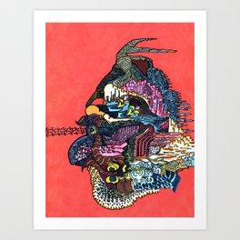 Inswept Sneer Art Print