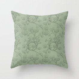 The Night Gardener - Endpapers Throw Pillow