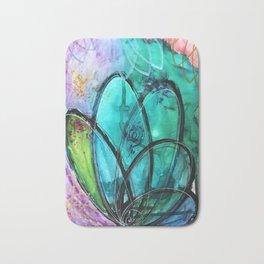 Aqua Bloom Bath Mat