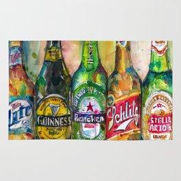 Miller Lite - Guinness- Heineken -Schlitz-Stella Artois Rug
