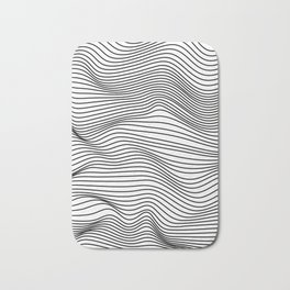 Abstract Wave Lines Bath Mat