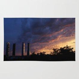 Sunset over Cuatro Torres, Madrid Rug