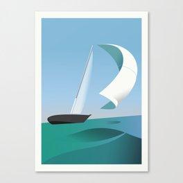 Yacht Sailing Poster Canvas Print