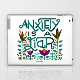 Anxiety is A Liar (teal) Laptop & iPad Skin