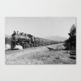 Deluxe Overland Limited Passenger Train Canvas Print