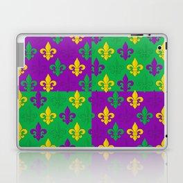Mardi Gras Fleur-de-Lis Pattern Laptop & iPad Skin