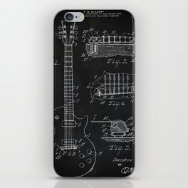 Gibson Guitar Patent Les Paul Vintage Guitar Diagram iPhone Skin