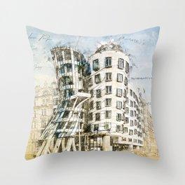 Dancing House, Prague Throw Pillow