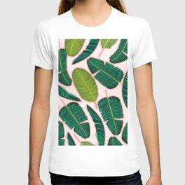 Banana Leaf Blush #society6 #decor #buyart T-shirt