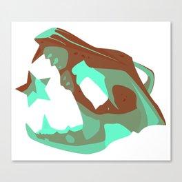 Star Skull 2 Canvas Print