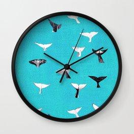 Whale Fluke Pattern Wall Clock