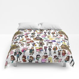 Cute Gravity Falls Doodle Comforters