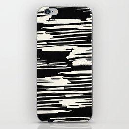 Modern Tribal Stripe Ivory and Black iPhone Skin