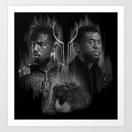 The King and the Outsider Art Print