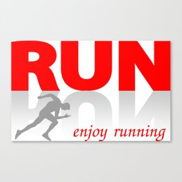 Enjoy running Canvas Print